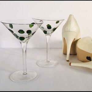 Hand Blown Martini Glasses